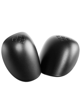 GAIN replacement plastic caps for hard shell knee pads, black
