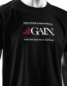 GAIN Protection LOGO T-shirt, black