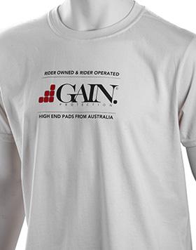 GAIN Protection LOGO T-shirt, light tan