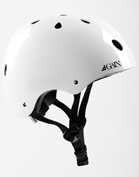 GAIN Protection THE SLEEPER helmet, XS-S-M w. adj., glossy white